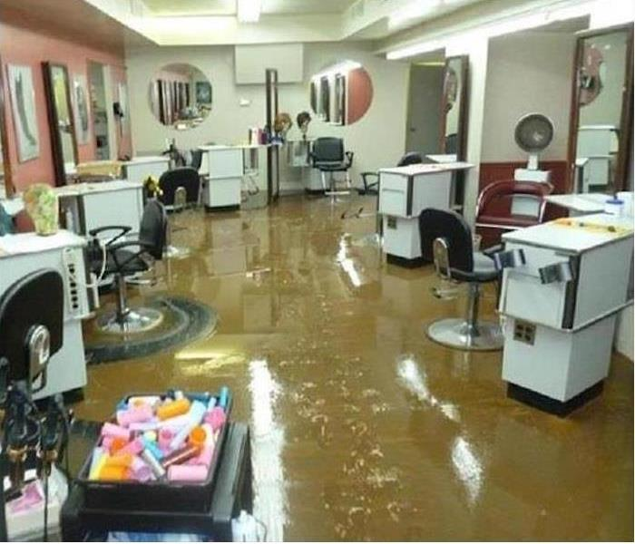 Naples Storm Damaged Beauty Salon Needs a Make Over Before. Naples  FL Commercial Mold Removal and Remediation   SERVPRO of
