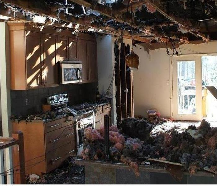 Fire Damage in a Naples Kitchen
