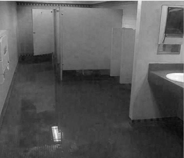 Naples Restaurant Flooded Restroom Floor. SERVPRO of Naples   Marco Island Gallery Photos