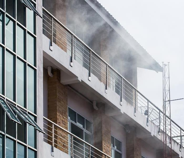 A condo unit with smoke in the air.